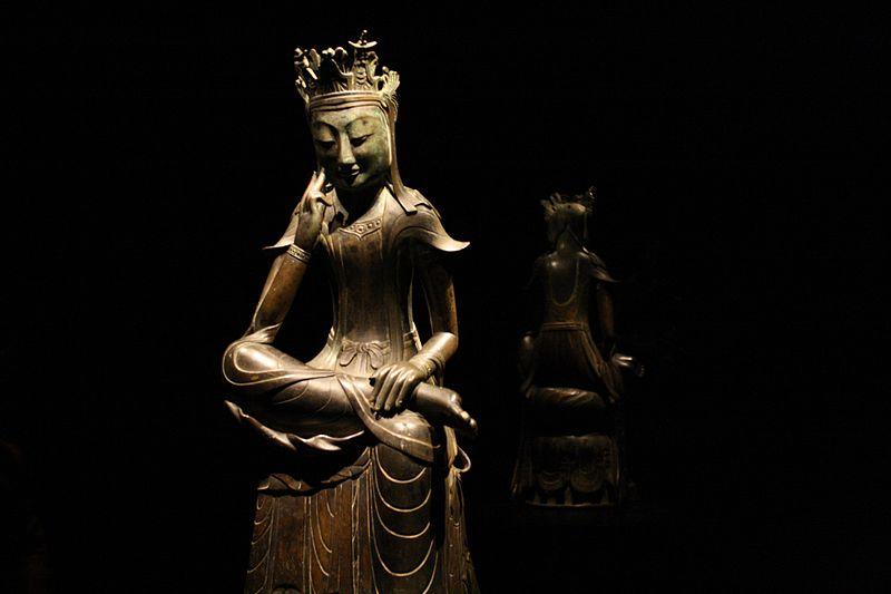 Korea-Gilt-bronze_pensive_Maitreya-National_Treasure_No._78-01