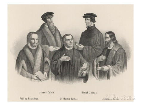 the-leaders-of-the-reformation-melancthon-calvin-luther-zwingli-hus