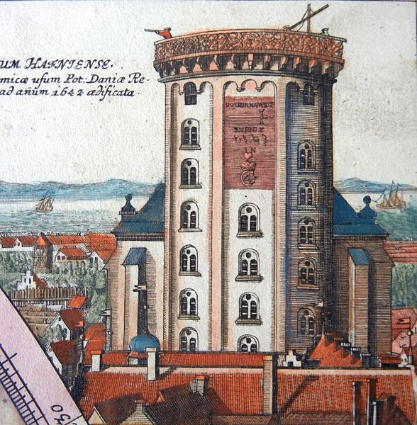 Rundetarn_Observatory_illustrated_by_Johann_Doppelmayr