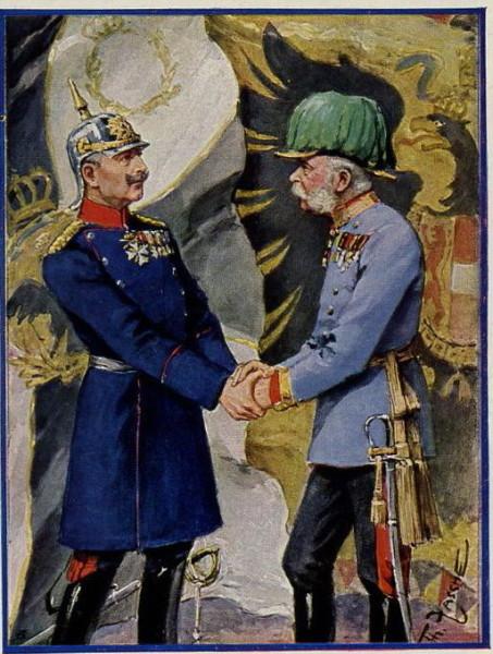 Franz Josef Kaiser Wilhelm Postcard